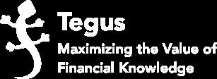 Tegus logo tagline white
